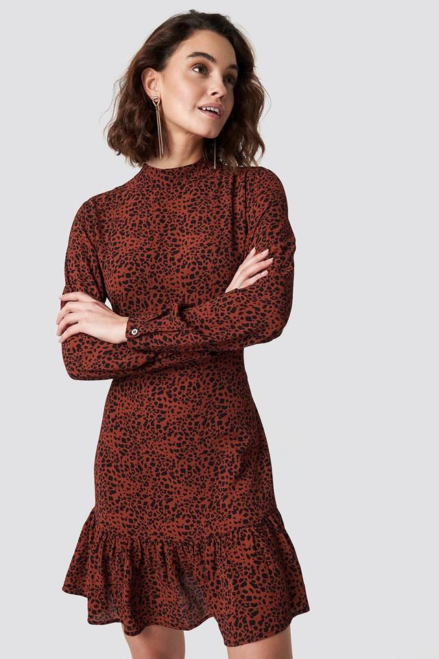 Leo Print Dress Rut&Circle