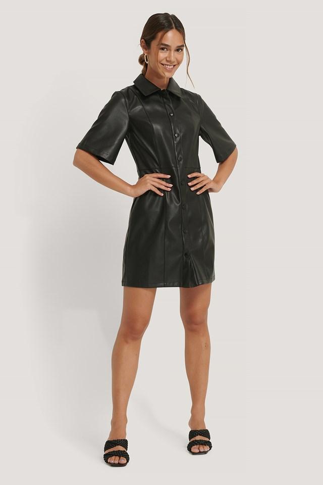 Petra Pu Dress Black