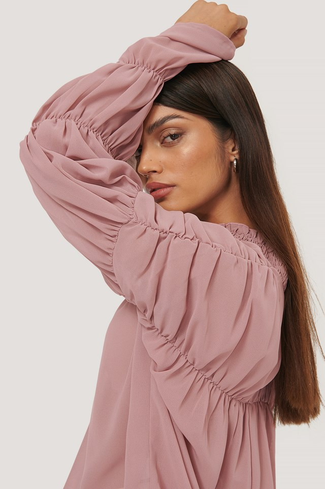 Victoria Blouse Dusty Pink