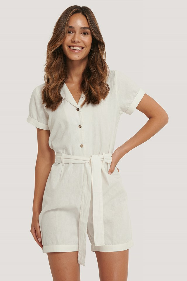 Andrea Playsuit Offwhite