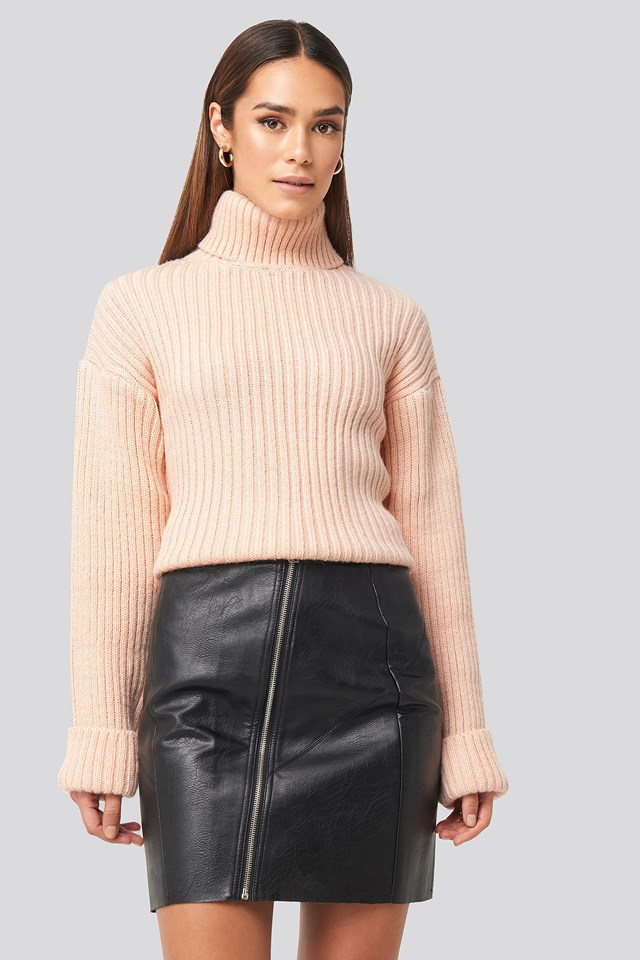 Black Nellie PU Skirt