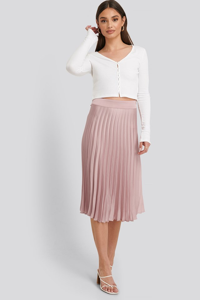 Bianca Pleated Skirt Dusty Pink