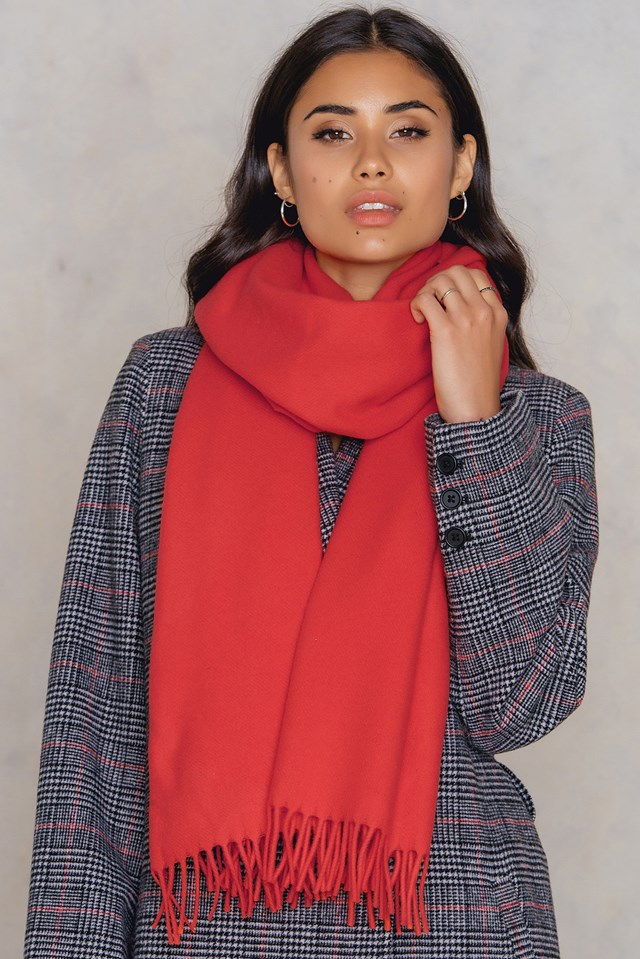 Accola Maxi Scarf High Risk Red