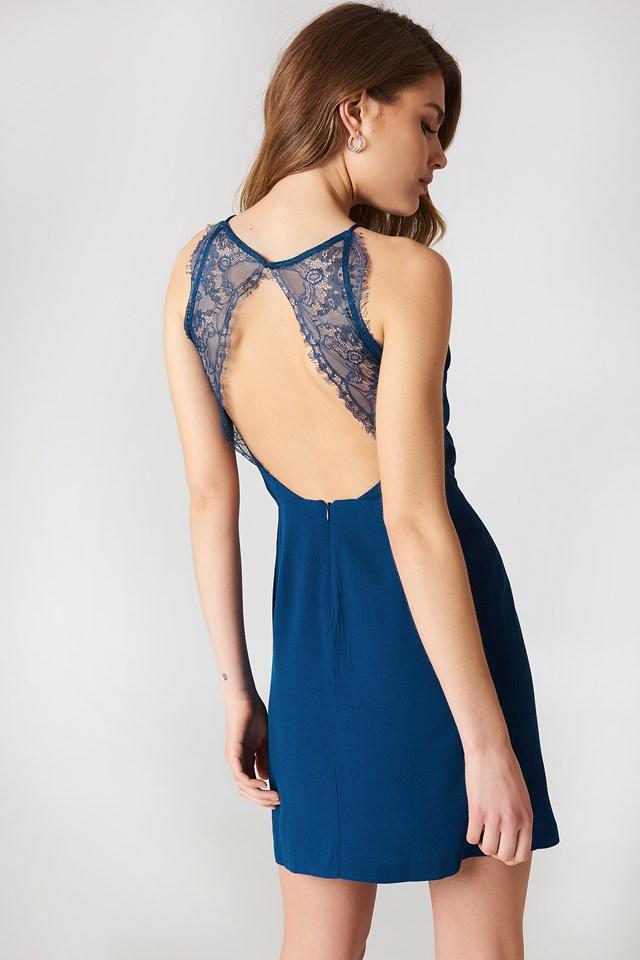 Willow Short Dress Estate Blue