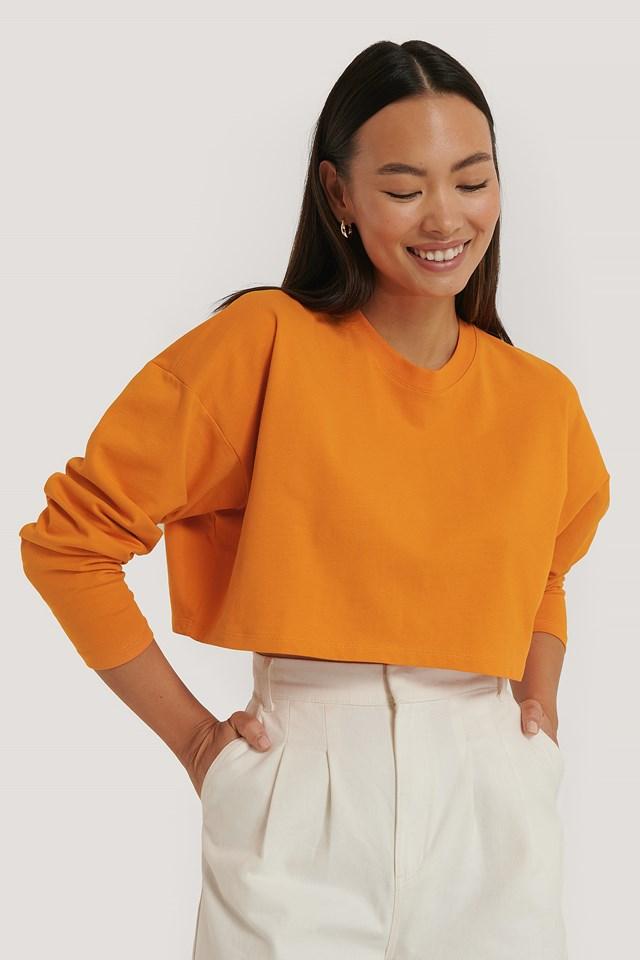 Cropped LS top Orange