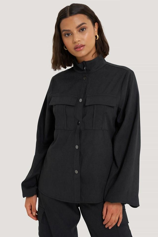Chest Pocket Shirt Black