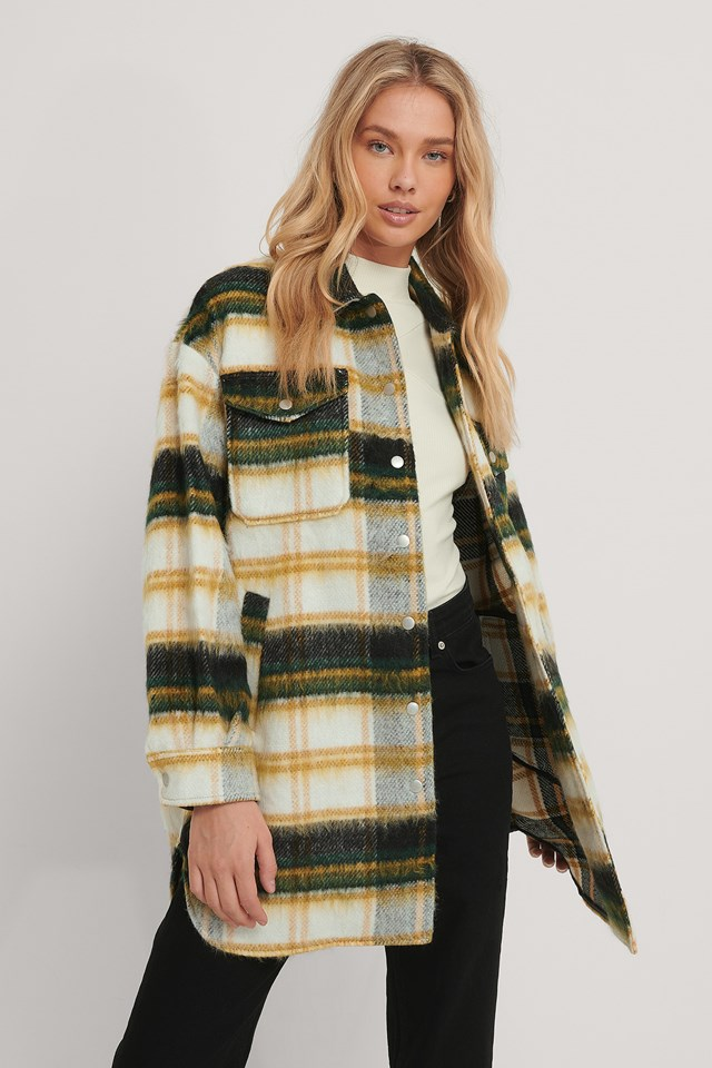 Caly Jacket Green Check