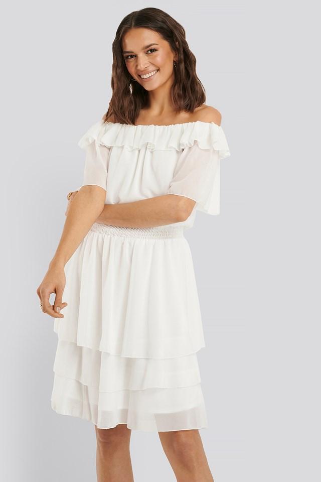 Nicoline Off-Shoulder Dress Cream