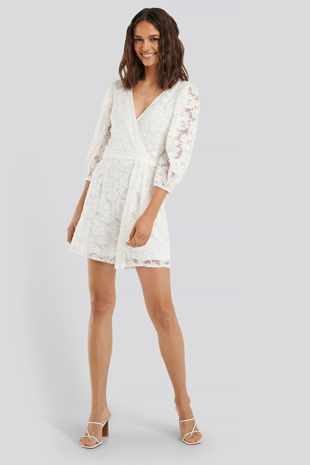 WD Belted Playsuit Cream