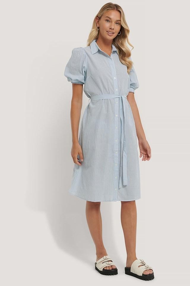 Ilina Dress Blue/White