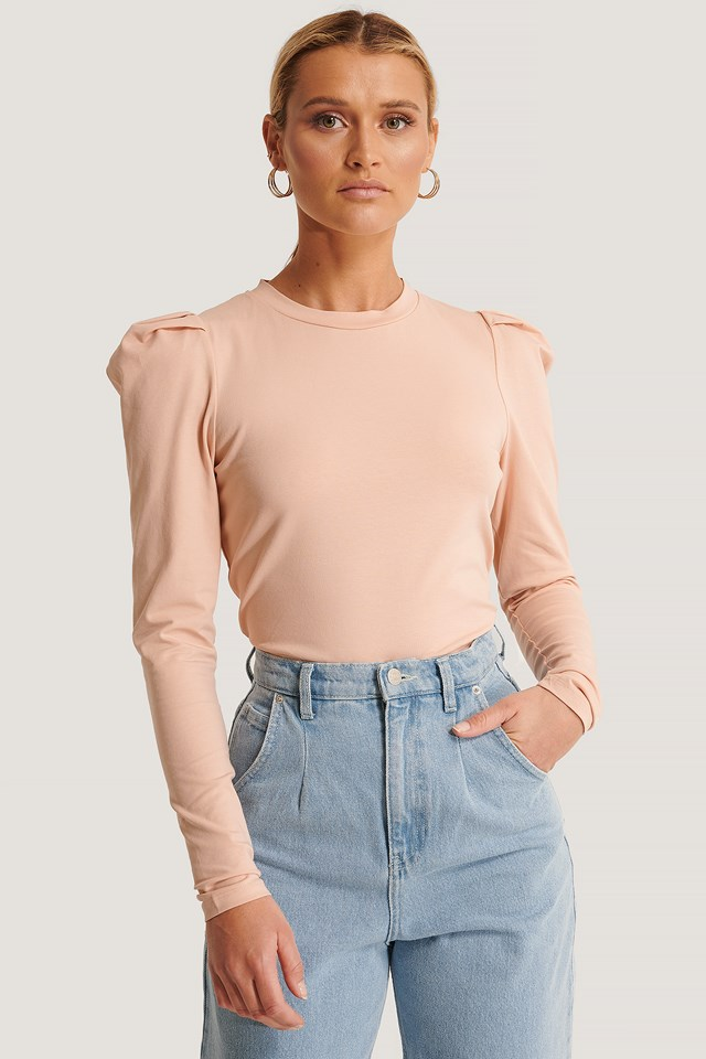Perle LS Top Misty Rose