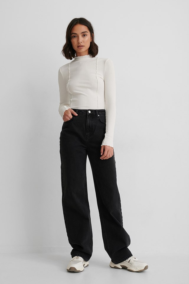 Black Organic High Waist Denim