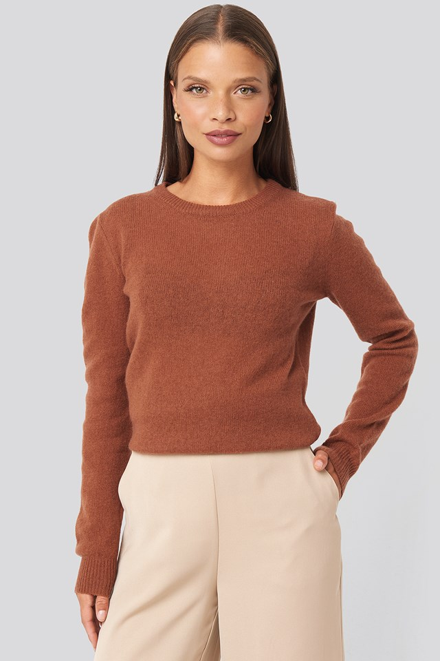 Pure Cashmere O-Neck Pullover Chestnut