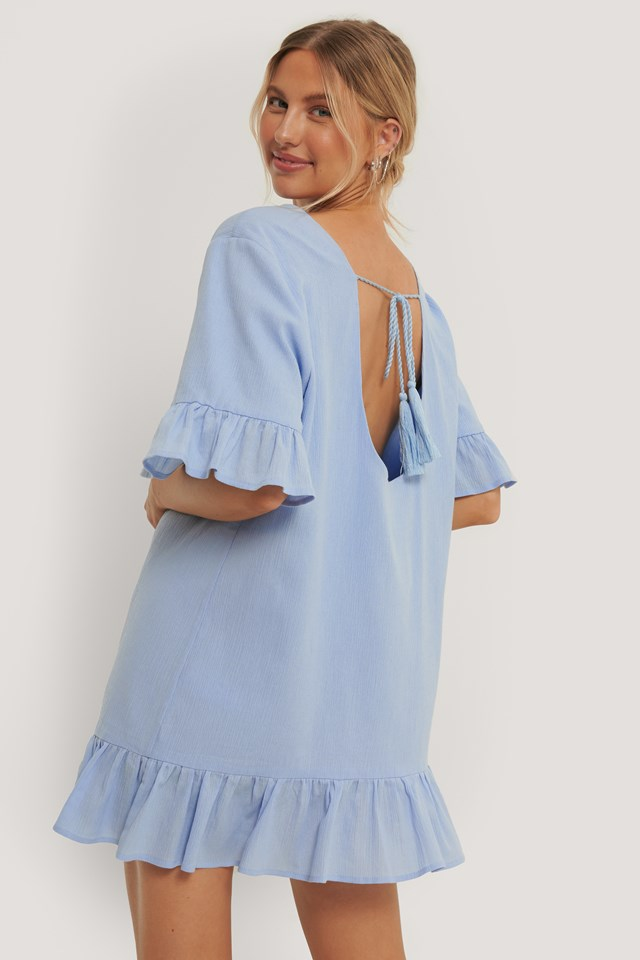 Aino Rossi Open Back Detail Tunic Blue