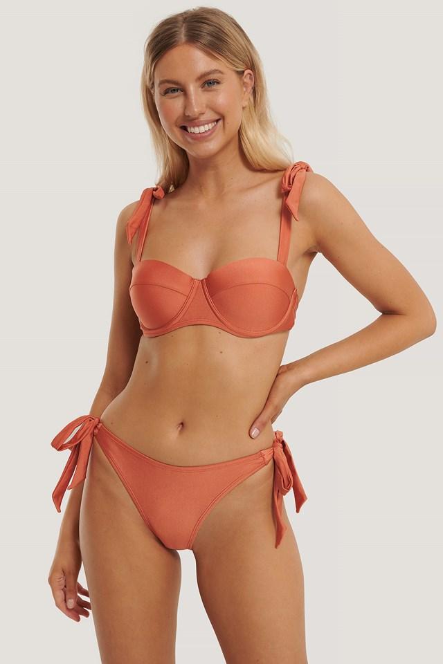 Aino Rossi Tied Side Bikini Bottom Orange