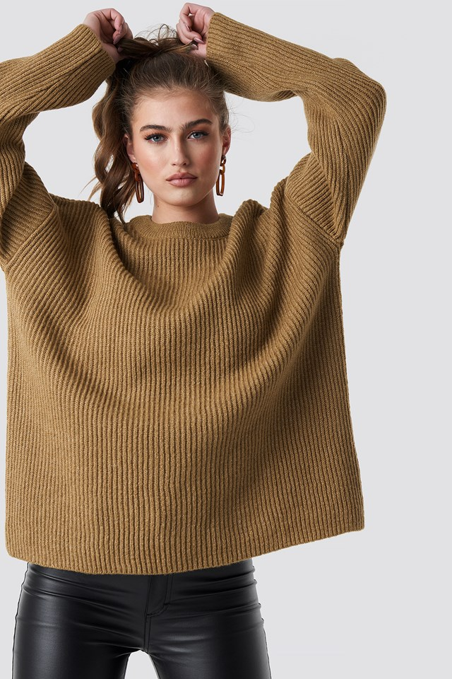 Katarina Juric Knitted Sweater Statement By NA-KD Influencers