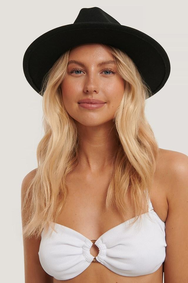 Salomé Esther Fedora Hat Black