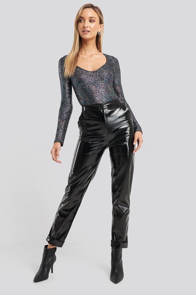 Glitter Long Sleeve Body Multicolor Outfit