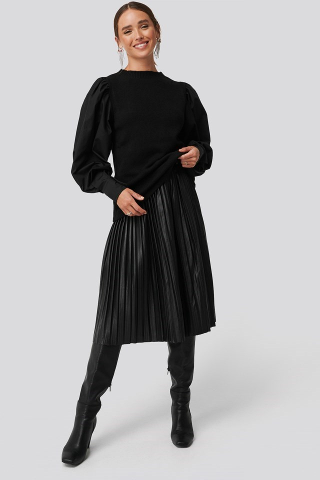 Handle Woven Sweater Pullover Outfit