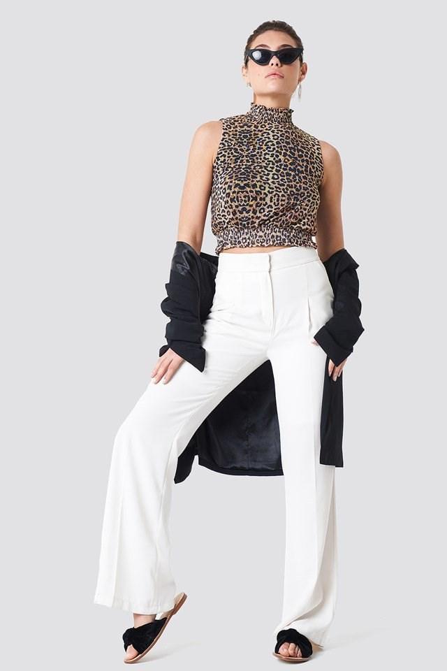 Classy Suit on Leopard Top