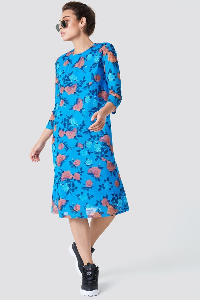 Floral Mesh Dress Outfit