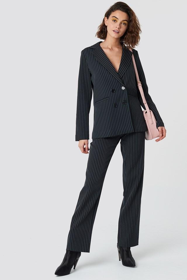 Elegant Pinstripe Suit Outfit