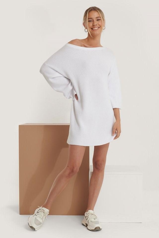 One Shoulder Knitted Dress