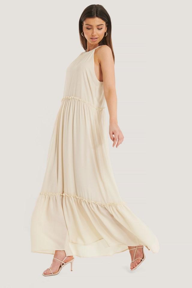 Flowy Frill Maxi Dress