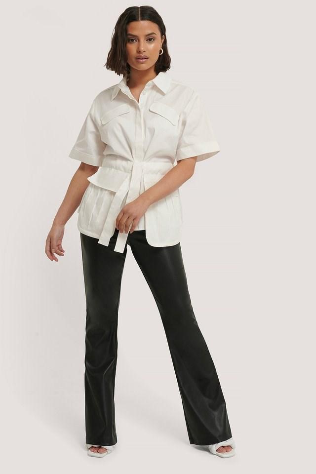 Tie Front Pocket Shirt