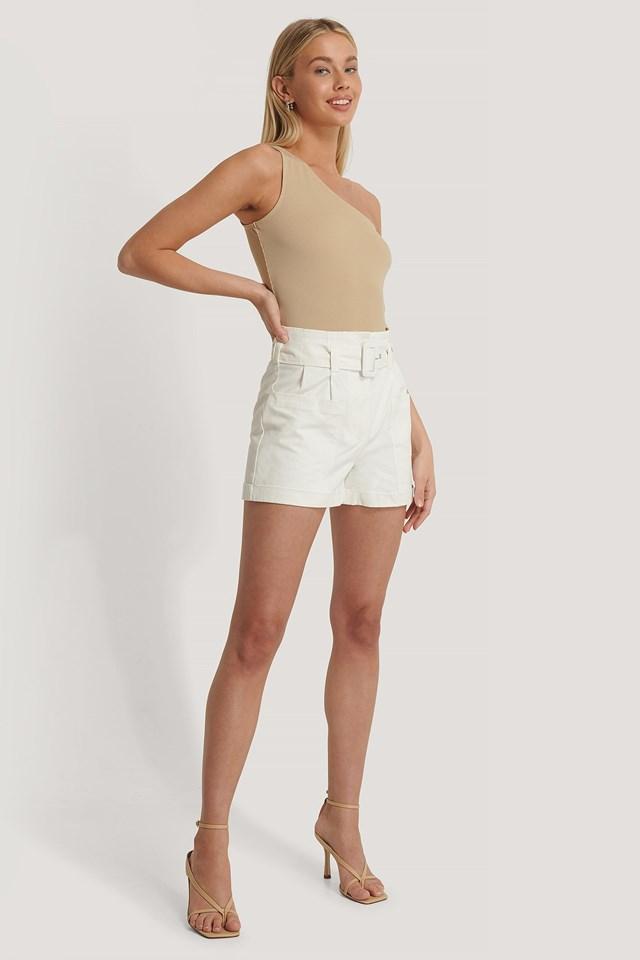 High Waist Pocket Detail Shorts