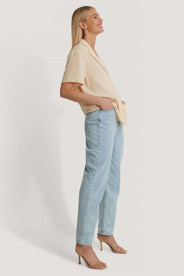 Oversized Mid Sleeve Shirt