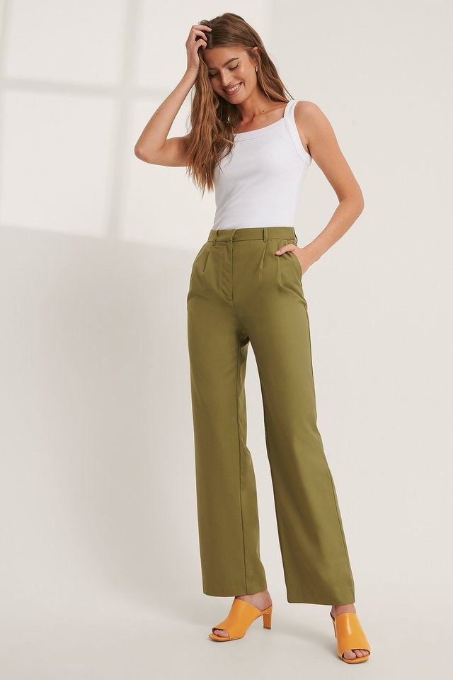 Pleat Detail Suit Pants