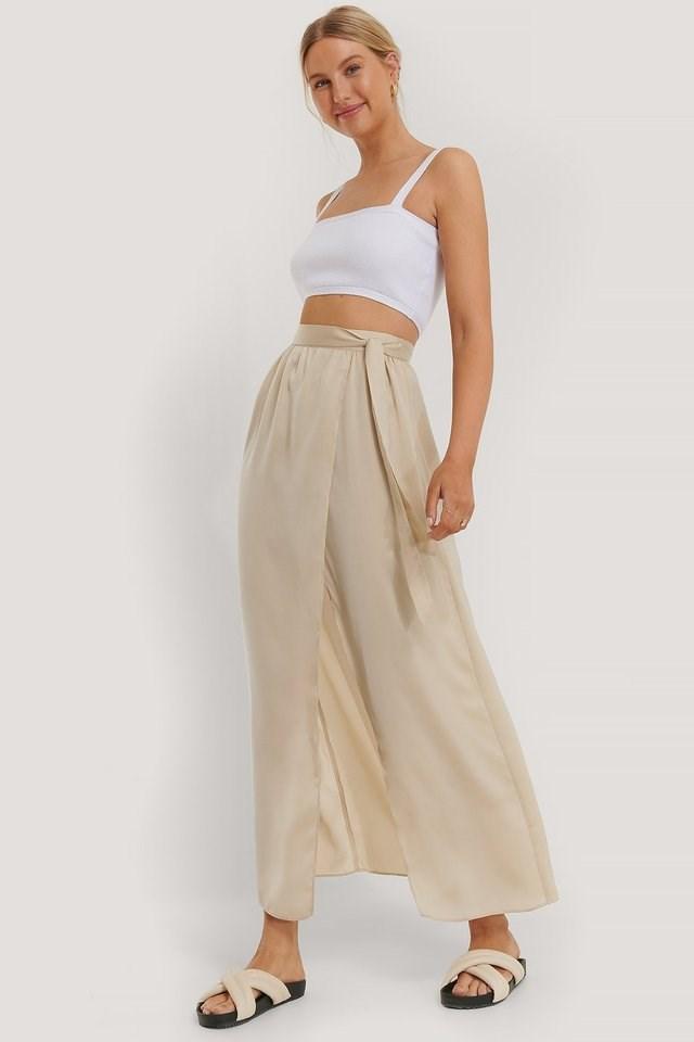 Maxi Satin Skirt