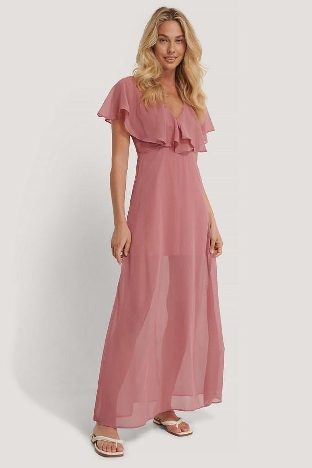 Rose Frilly Dress