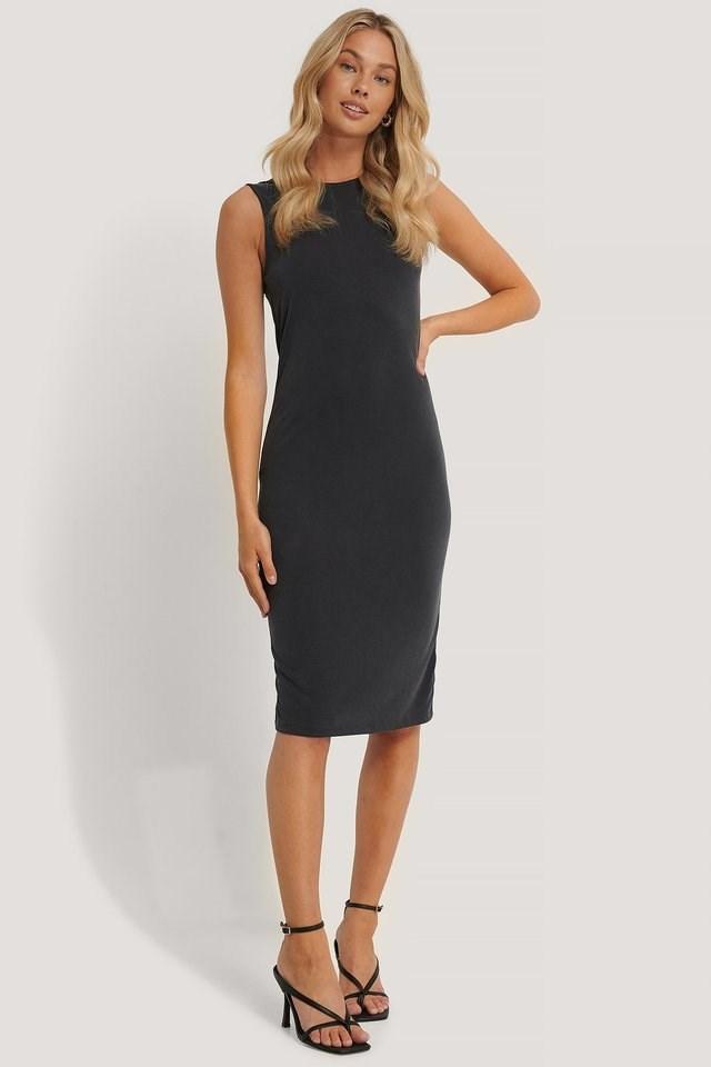 Deep V-Back Modal Dress