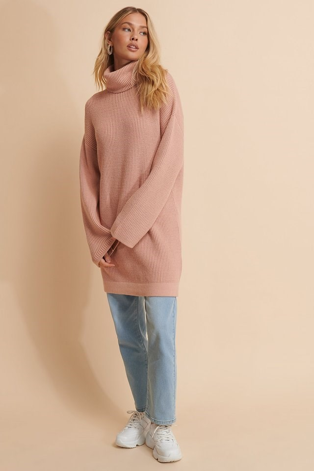 PINK HEAVY KNITTED SWEATER