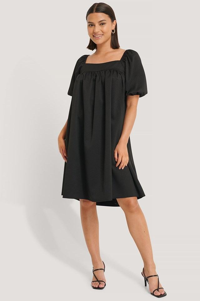 Structured Square Neck Dress Outfit