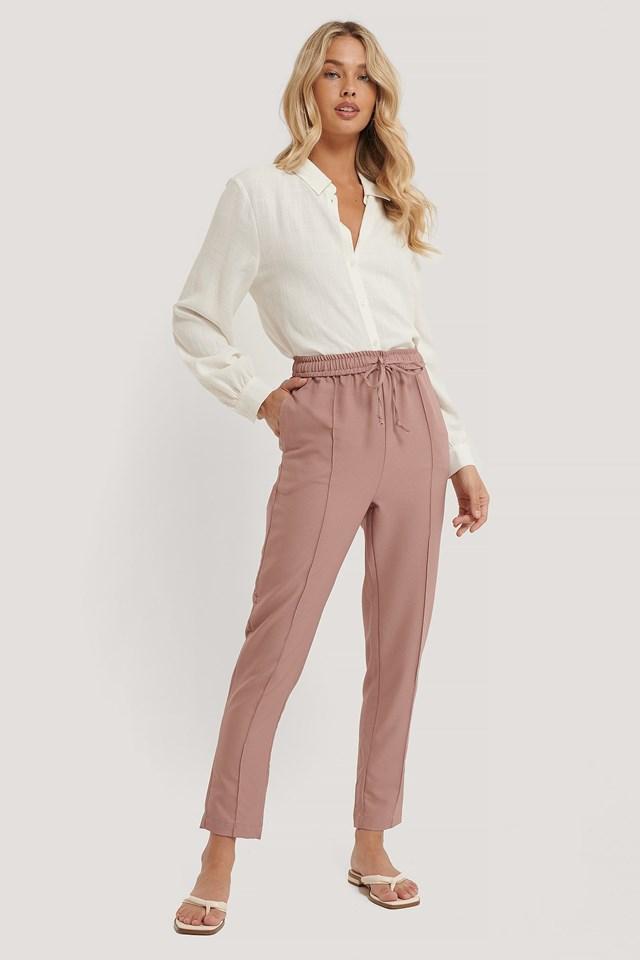 Carmen Tie Trousers Outfit