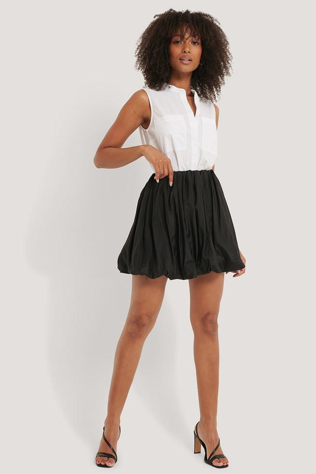 Balloon Mini Skirt Outfit