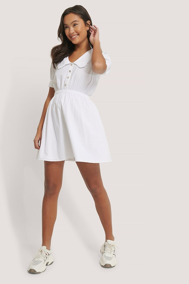 Big Collar Cotton Dress