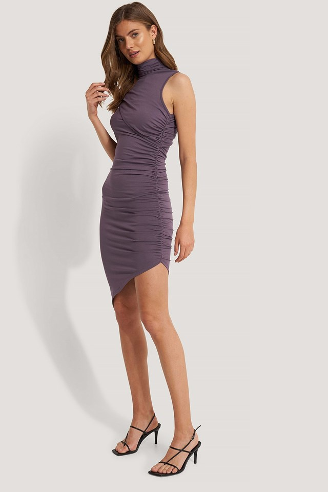 Draped Effect Dress Outfit