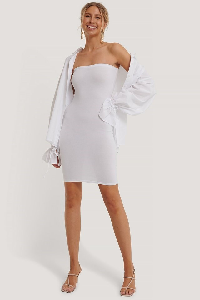 Basic Jersey Bandeau Dress Outfit