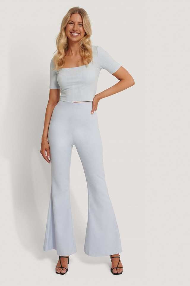 Kick Flare Suit Pants Outfit