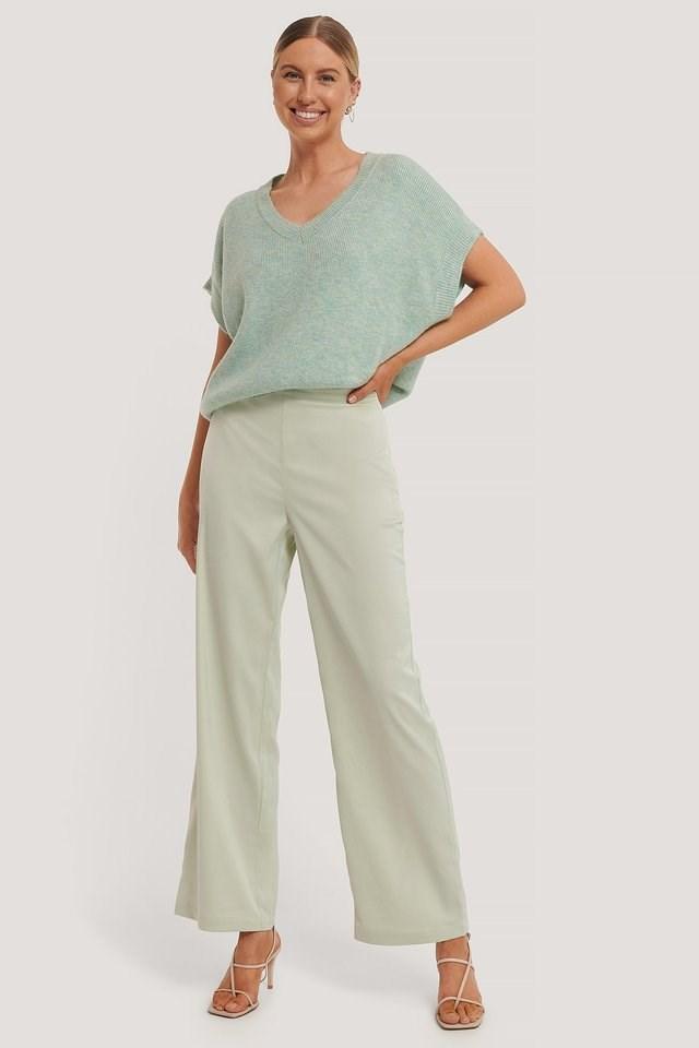 Satin Suit Pants