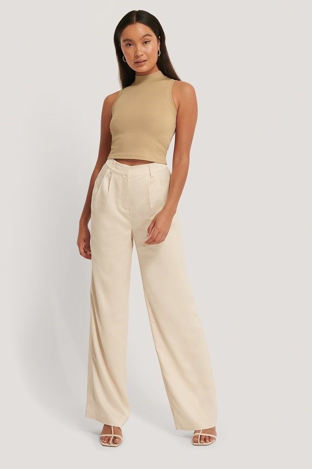 High Neck Cropped Singlet