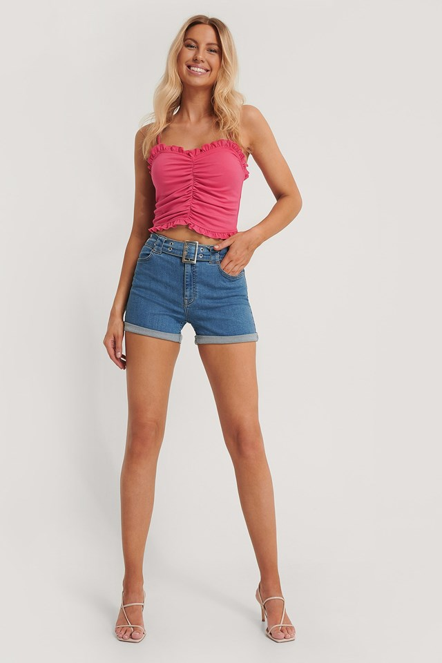 Frill Detail Bandeau Top Outfit
