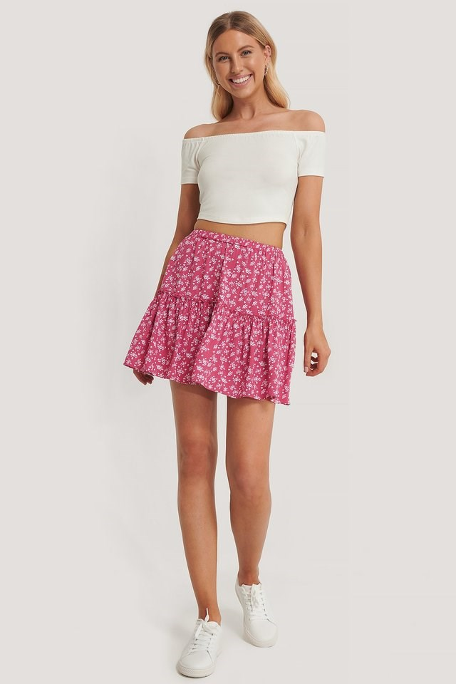 Frill Mini Skirt Outfit