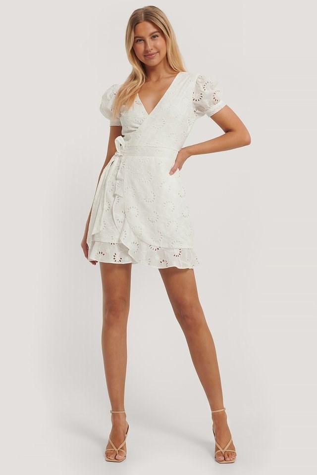 Crochet Short Sleeve Dress Outfit