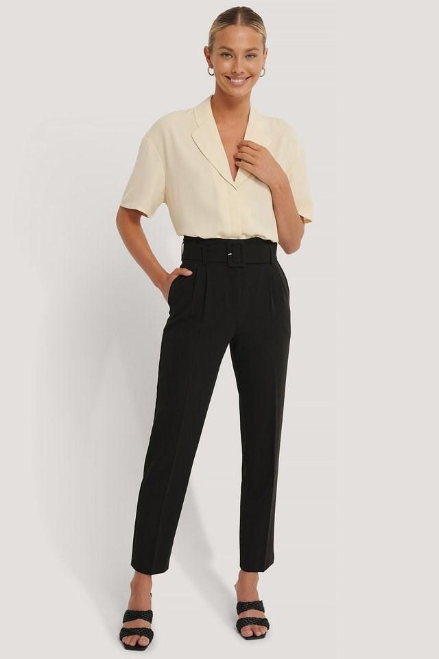 Belted Suit Pants