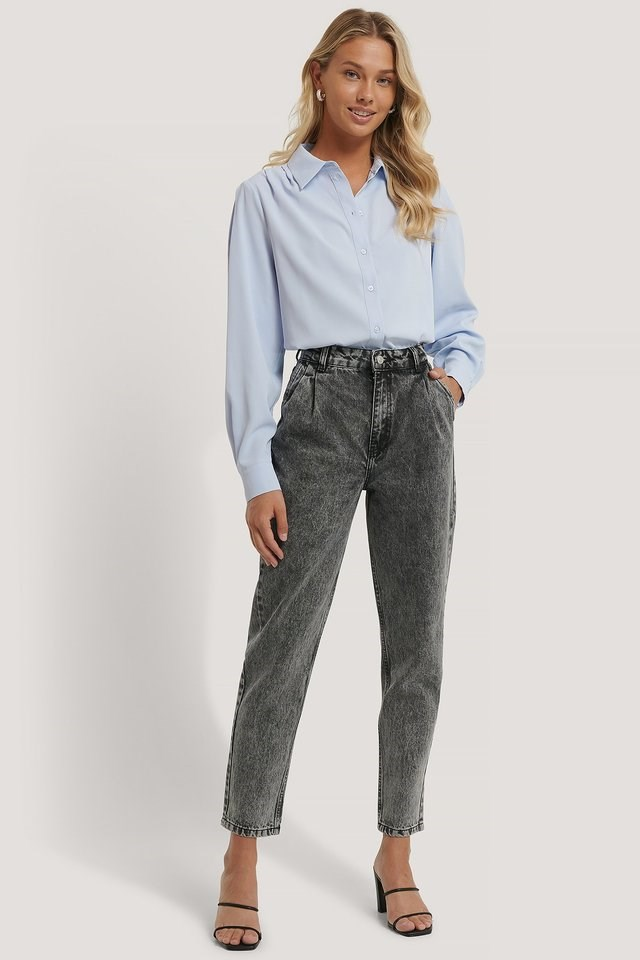 Front Dart Mom Jeans